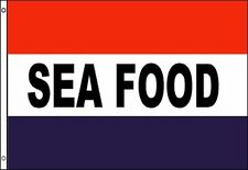 SEA FOOD Flag 3x5 ft Seafood Restaurant Advertising Sign Fish Market Store Grill