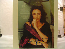 Jacqueline Bisset, Autograph,Signed Magazine Page,Color photo by Michel Comte