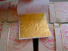 5000 GOLD LEAF SHEETS 24K  Edible Gilding 4x4 cm.Pure Gold leaf facial mask.