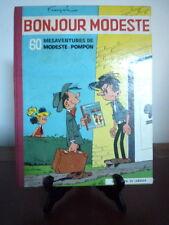 Modeste et Pompon. Bonjour Modeste. Edition originale. Français et Flamand. 1959