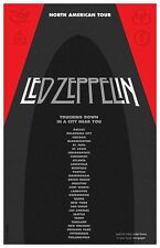 Led Zeppelin North American Tour Gig Concert Poster