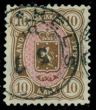 FINLAND #37 10mk brown & rose, used w/full town cancel, Kaiser cert, Scott $750.