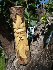 STUNNING GREEN MAN LOG - 50CM (HAND CARVED IN BALI)