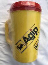 Vintage Agip Azienda Generale Italiana Petroli Oil Gas Aladdin Thermos Cup