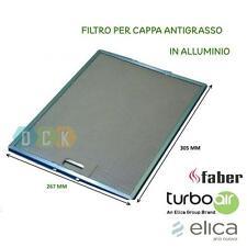 FILTRO CAPPA ALLUMINIO METALLICO 267X305X9 MM ELICA ANTIGRASSO FABER ARISTON