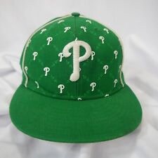 New Era 59Fifty Phillies Green & White Wool Baseball Cap Hat Lid Size 7 5/8