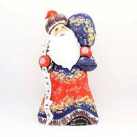 Russian Ded Moroz Father Frost Santa Figurine Carved wood Christmas #42