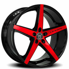 "4ea 20"" Lexani Wheels R-Four Black with Brushed Red Face Rims(S1)"