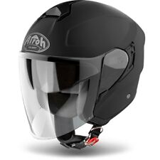 CASCO HELMET JET HUNTER PINLOCK READY COLOR BLACK MATT AIROH SIZE XS