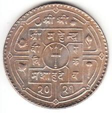 1964 Nepal 1 Rupee King MAHENDRA   KM # 786