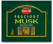 "HEM ""PRECIOUS MUSK"" DHOOP INCENSE CONES (12 PACKETS BOX)"
