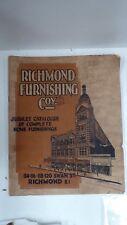 ORIGINAL 1934 RICHMOND FURNISHING CATALOGUE MELBOURNE DECO FURNITURE HOME WARES