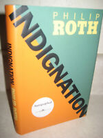 INDIGNATION Philip Roth SIGNED 1st Edition First Print NOVEL Fiction MOVIE Film