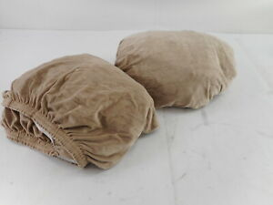 H. Versailtex Velvet L-Shaped Sofa Cover, Xlarge + Right Chaise-Taupe (2 Piece)