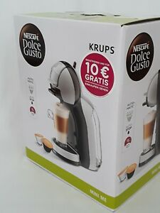 Krups KP123B Nescafe Dolce Gusto Mini Me Kaffeekapselmaschine, Artic Grey