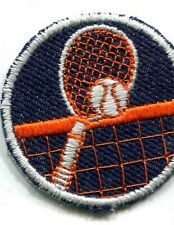 Tennis patch-Tennis Crest-entièrement brodé argent métallisé iron on patch
