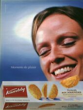 Publicité contemporaine Kambly tuiles aux amandes 2003 issue de magazine