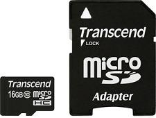TRANSCEND 16GB Flash Microsdhc Tarjeta con adaptador (clase 10)