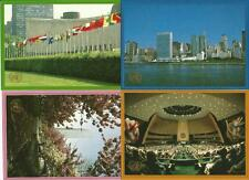UNO New York Ganzsachenkarten aus 1989! 5 Stück ungebraucht - Bildpostkarte!