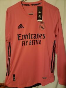 Real Madrid Size Medium Away Long sleeve Jersey 2020/2021 Pink Champions League