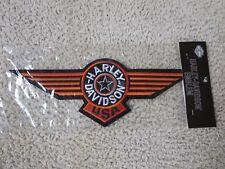 "13'' x 4.75"" Harley Davidson Fat Boy FatBoy Patch Large Orange New/Old Stock"