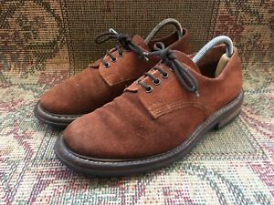 Trickers Derby Brown Mens Suede Shoes Size UK 7.5 || USA 8.5