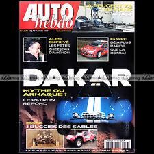 AUTO HEBDO N°1578 MORGAN AERO 8 CITROËN C4 WRC DESERT BUGGY DAKAR SCHLESSER 2007