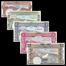 Yemen set 5 PCS, 250 500 Fils +1 5 10 Dinars, UNC