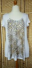 Fashion by Together Placement Print Cap Sleeve Top XL White