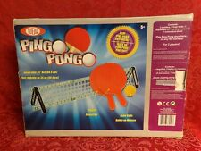 New listing HTF Ideal Ping Pong Table Tennis Set Travel Size w/ Paddles & Net Instructions