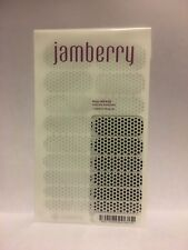 New JAMBERRY Nail Wraps WHITE & BLACK POLKA Dots Accent Nail Manicure FULL SHEET