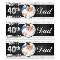 X 2 BLACK & WHITE BIRTHDAY PARTY BANNER PARTY WALL DECORATIONS DAD 40TH ANY AGE
