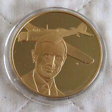 Récord mundial de larga distancia 1938 44 mm a prueba de medalla de bronce RAF Museo Hombre en vuelo