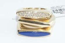 LOT OF 3 Michael Kors Rings Fashion Tribal Gold Tone Lapis Pave rings SIZE 7