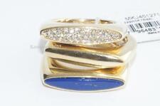 LOT OF 3 Michael Kors Rings Fashion Tribal Gold Tone Lapis Pave rings SIZE 7