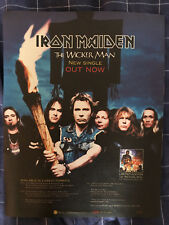 IRON MAIDEN - THE WICKER MAN - LARGE POSTER SIZE PRESS ADVERT