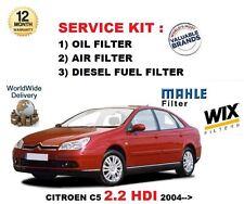 FOR CITROEN C5 2.2 HDi 136BHP 11/2004-> SERVICE KIT OIL AIR FUEL 3 FILTER KIT