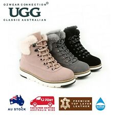 OZWEAR UGG LORI LACEUP SNEAKER BOOTS (WATER RESISTANT) 3 COLOURS OB482