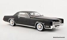 Cadillac Eldorado, noir/mat-Noir 1967 1:18 Bos