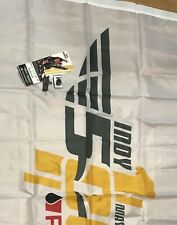 2016 100th Running Indianapolis (Indy) 500 Flag Ticket & Speedway Stands Bolts