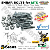 HAKATOP 4 Pack 710-0890 Shear Bolts&Nuts Replacement for MTD Cub ...