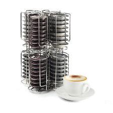 2 Tier 64 Coffee Pod T-DISC Capsule Holder Dispenser Chrome for Tassimo Bosch