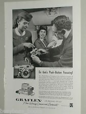 1957 GRAFLEX 35 camera advertisement, Graphic 35 ad, Capital Airline Stewardess