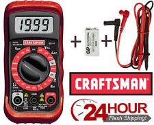 Craftsman Digital Multimeter 8 Function 34-82141 Gift Electrical Volt Test Meter