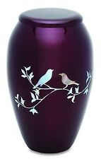 Purple Doves 210 Cubic Inches Large/Adult Funeral Cremation Urn for Ashes