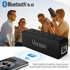 VANZON Wireless Bluetooth V5.0 Portable Speaker with HD Sound and Bass Black USA