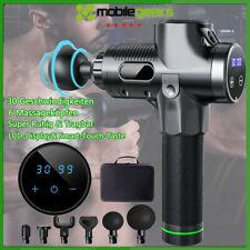 30 Modi Electric Massage Gun Massagepistole Massager Muscle Massagegerät+6 Köpfe