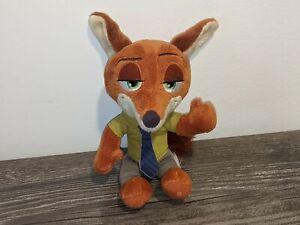 """NICK WILDE Zootopia Walt Disney 8"""" Stuffed Animal/Plush Doll Fox w/ Necktie Tomy"""