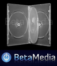 10 x Quad Clear 14mm Quality CD / DVD Cover Case - HOLDS 4 Discs
