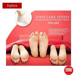 1 Pair Healing Silicone Gel Sleeve Heel, Ankle Breathable Protector Support 70G
